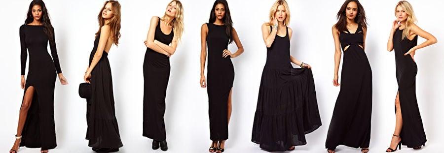 Asos vestiti lunghi neri