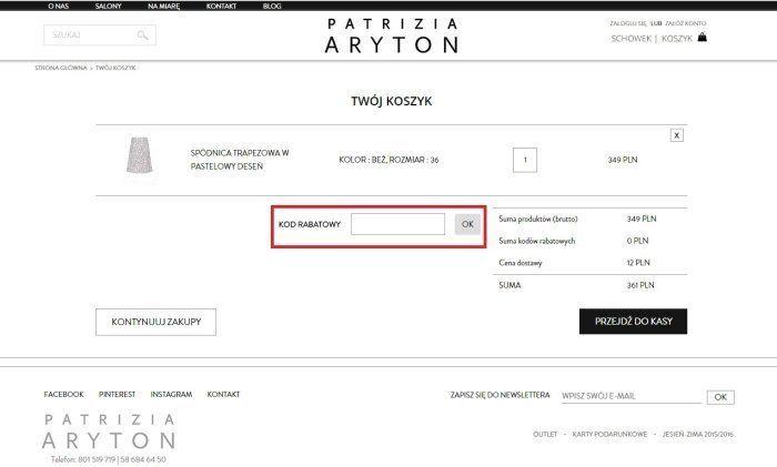 Kupon rabatowy Aryton