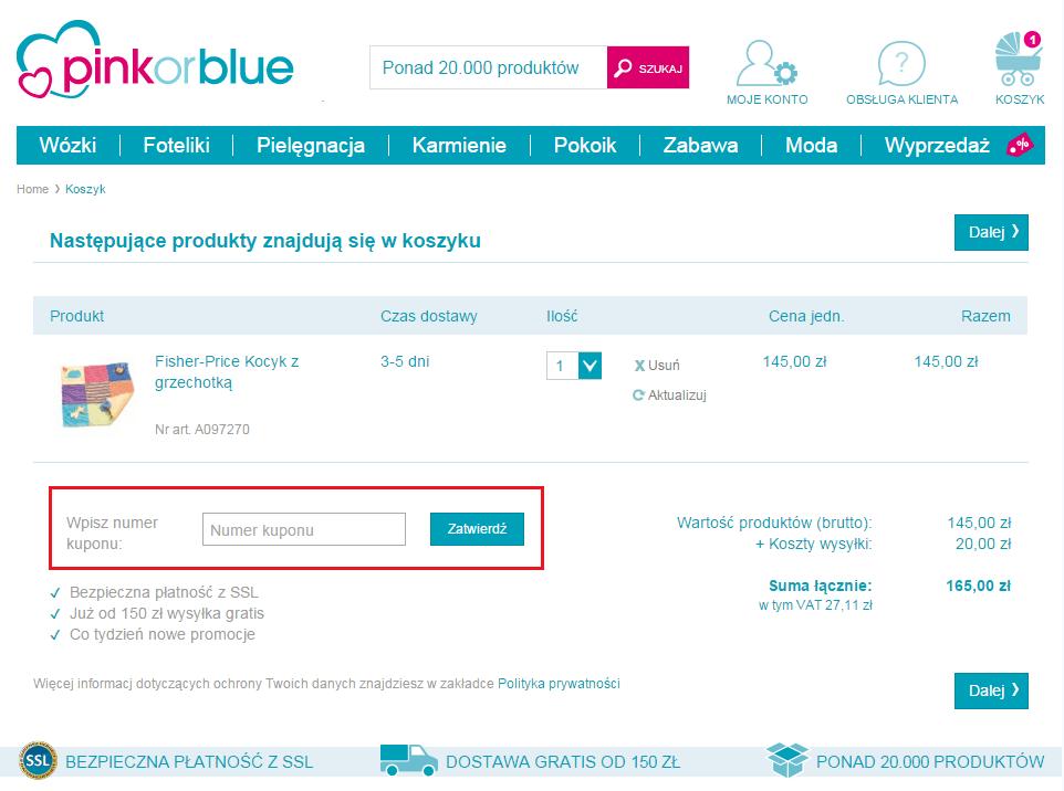 Pinkorblue kod rabatowy