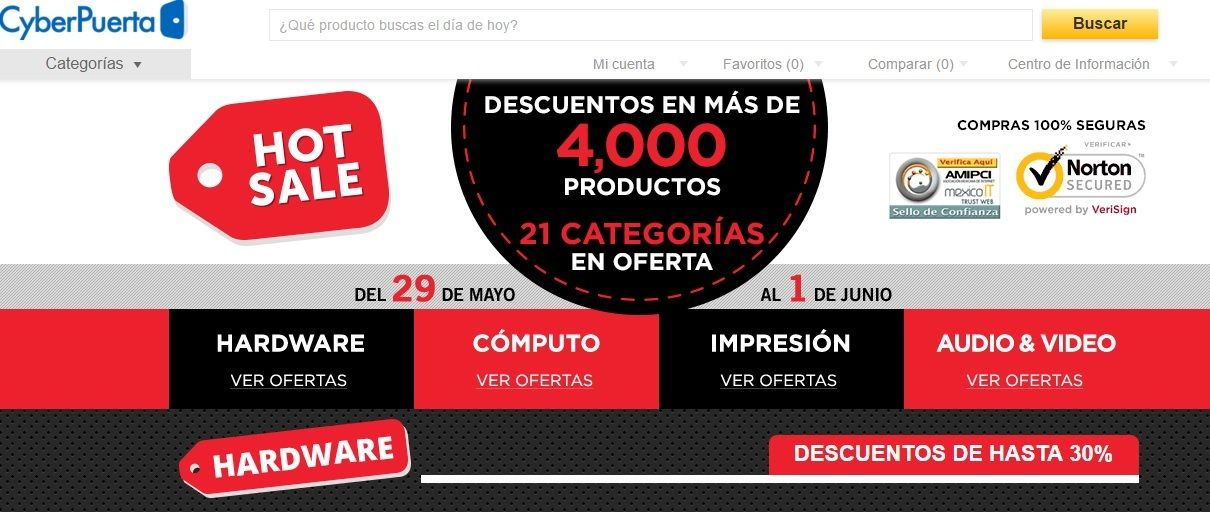 ofertas hot sale cyberpuerta