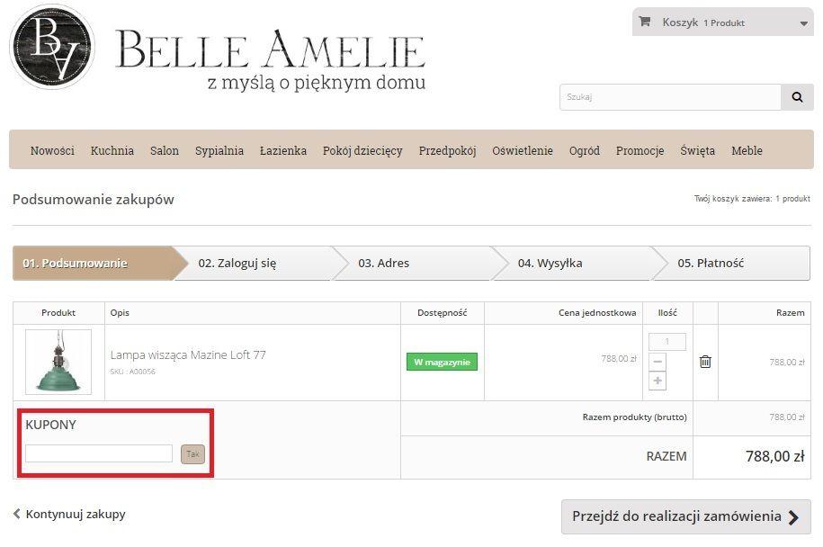 Belle Amelie kupon na Kupon.pl