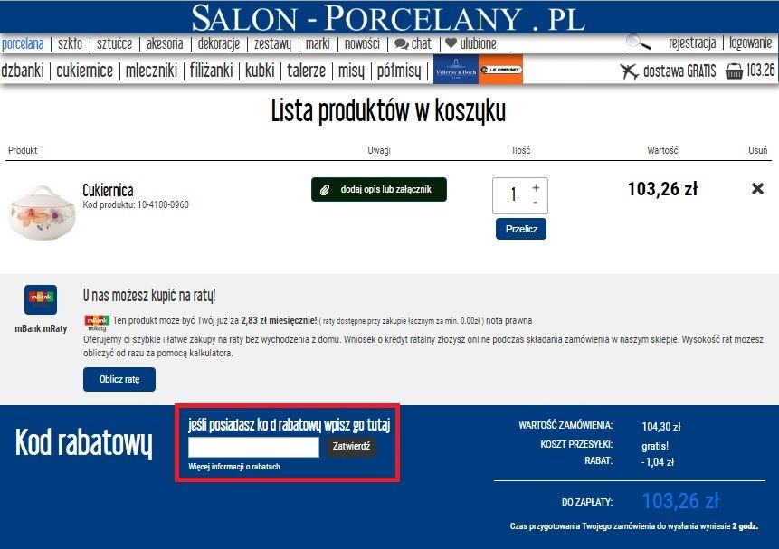 Salon-porcelany.pl kod rabatowy kupon pl