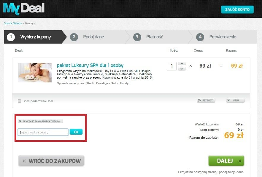 MyDeal rabaty Kupon pl