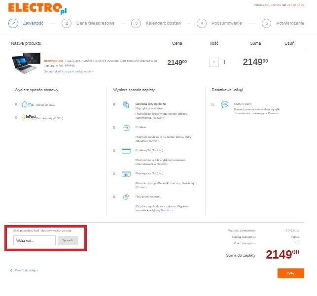 Kod rabatowy Electro.pl - jak wykorzystac na Fakt.pl