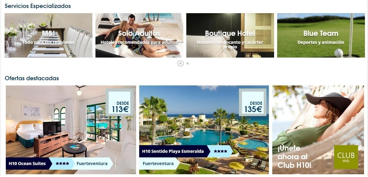 cupon descuento H10 Hotels