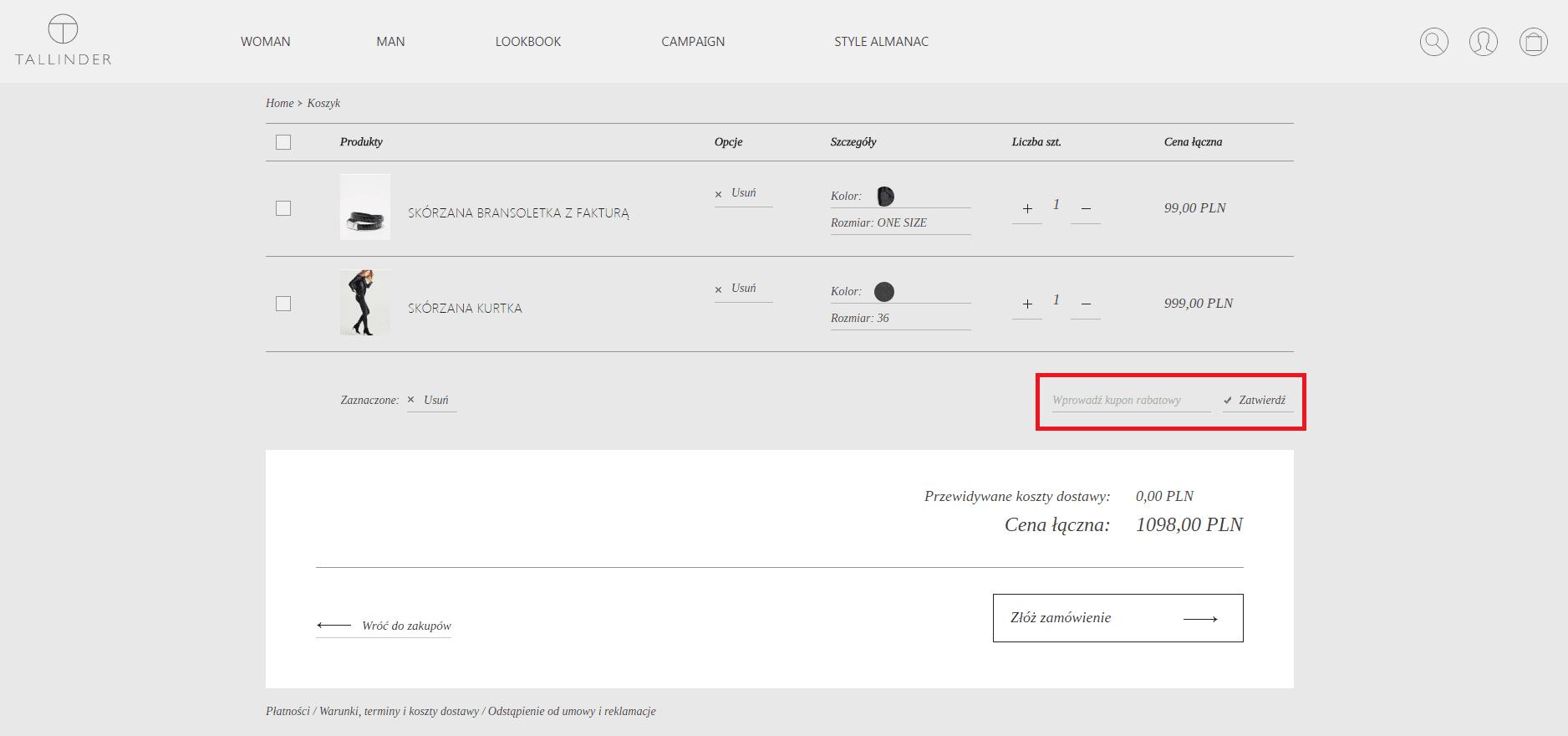 Tallinder kod rabatowy kod rabatowy Kupon pl
