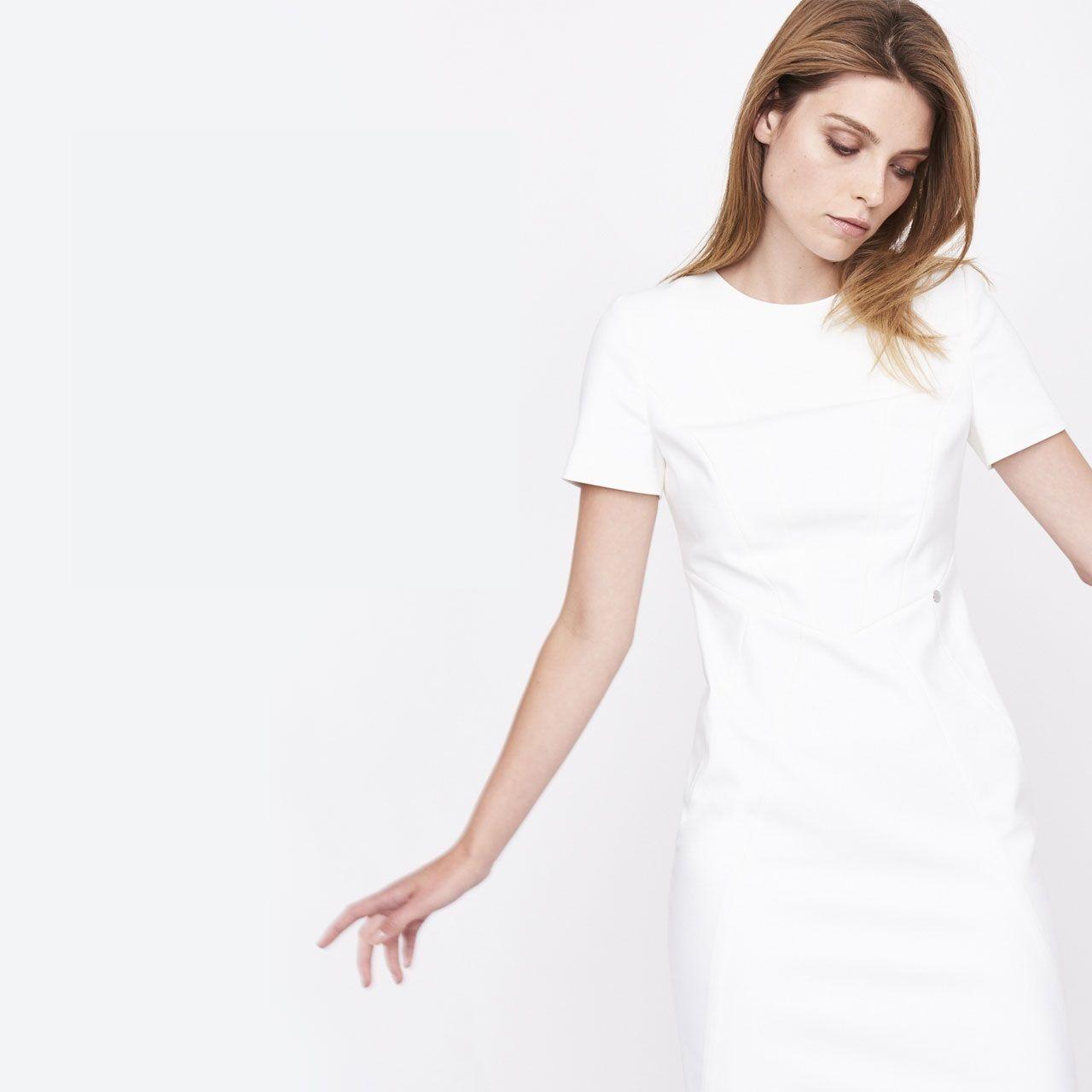 Simple promocje sukienka biala polki pl
