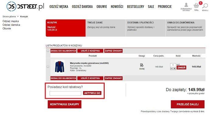 Dstreet kod rabatowy Kupon.pl jak wykorzystac