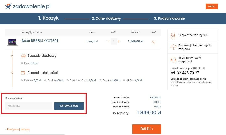 Kody promocyjne Zadowolenie.pl jak wykorzystac Komputerswiat