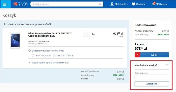 Kody rabatowe eMAG.pl (Agito) - jak wykorzystać? Komputerswiat