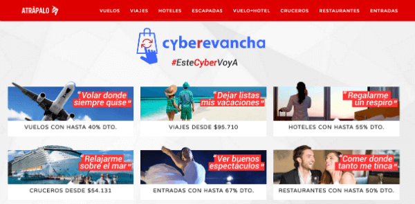 Ofertas Cyber Monday Atrapalo