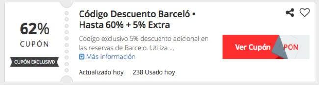 Cupones de descuento Barcelo