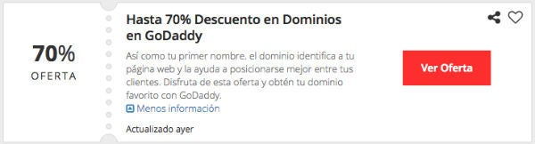 Ofertas GoDaddy Colombia