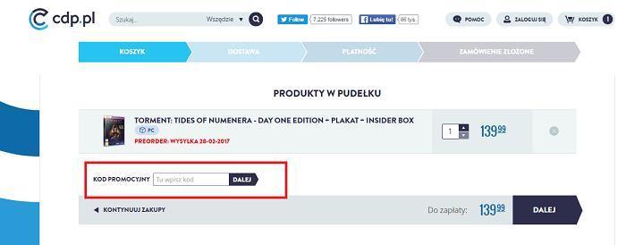 Cdp kod rabatowy jak kupować na Fakt.pl