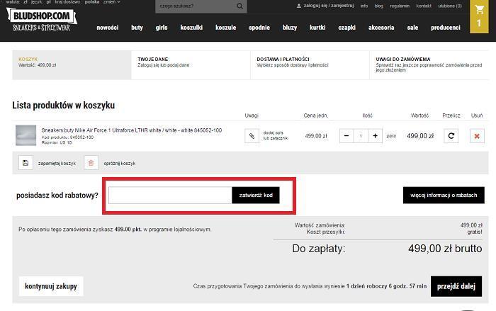Bludshop kod rabatowy na Fakt.pl jak używać