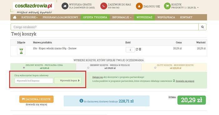 Cosdlazdrowia.pl kod rabatowy jak zamawiać na Fakt.pl