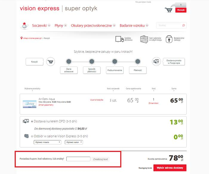 Vision Express promocje na Fakt.pl jak używać?