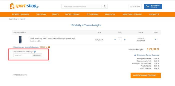 Sport-shop kod rabatowy na Fakt.pl jak zamawiać?
