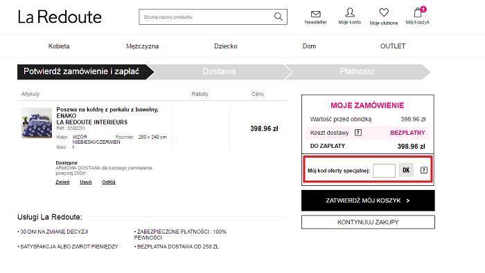 La Redoute kod rabatowy na Fakt.pl