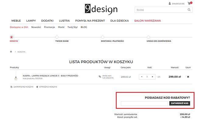 9design kod rabatowy na Fakt.pl