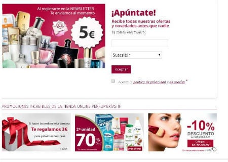 codigo promocional PerfumeriasIf print