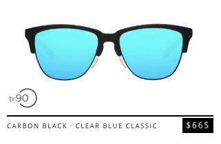 carbon black clear blue classic