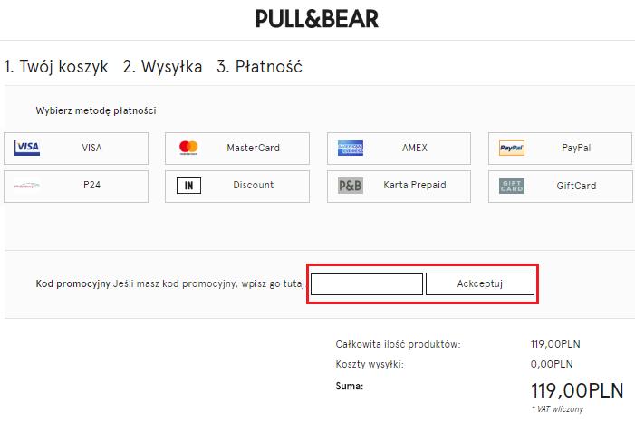 jak wykorzystac kod rabatowy pull and bear