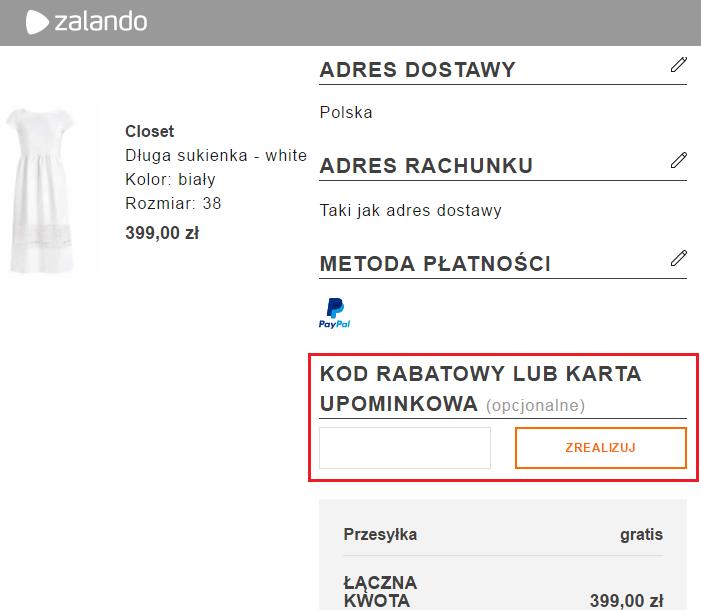 Zalando kod rabatowy - jak wykorzystać na Kupon.pl?