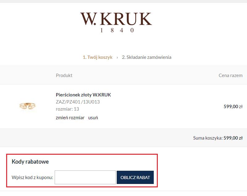 4bbbae1ed6383d 50% W.KRUK promocje lipiec 2019 | Kod rabatowy | Kupon.pl