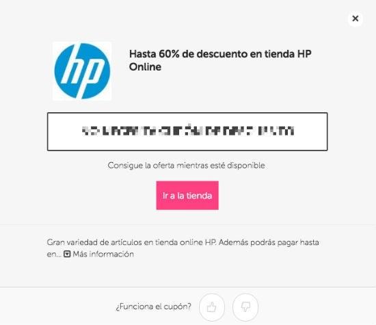 cupón HP