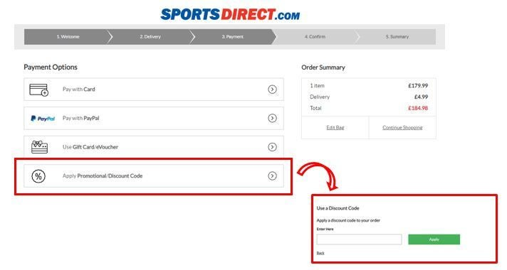 Sports direct voucher code free delivery