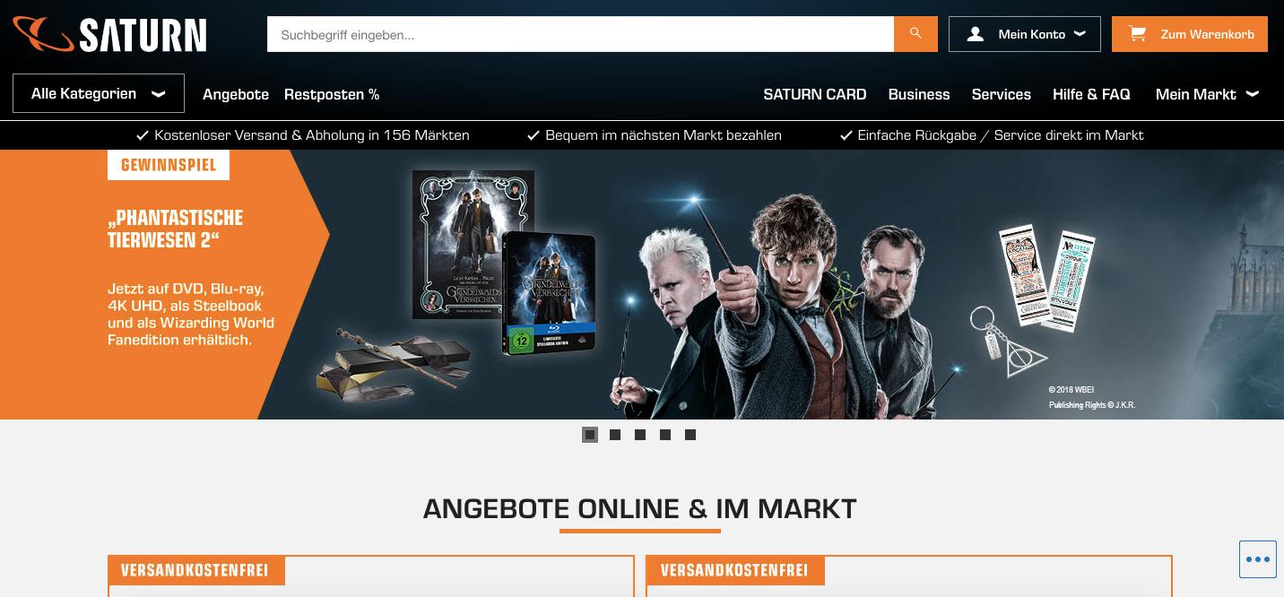 Website SATURN