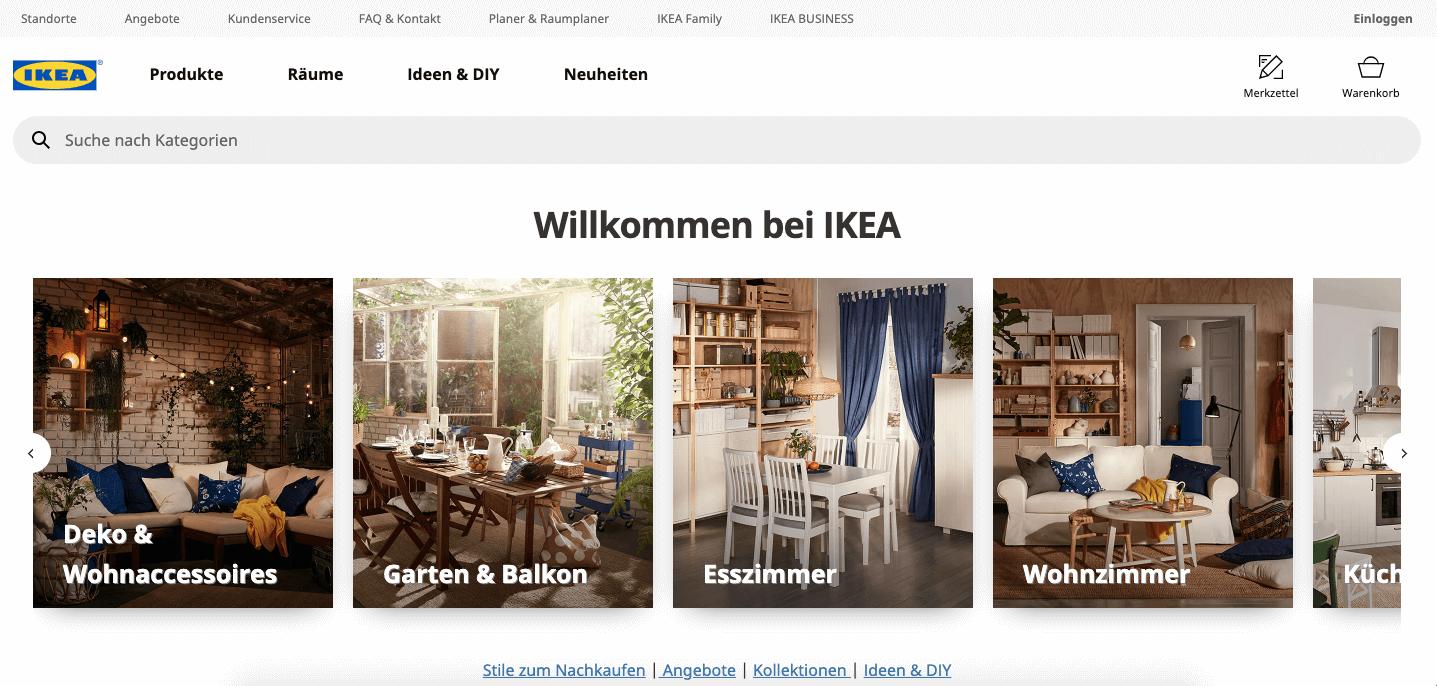 Ikea Startseite