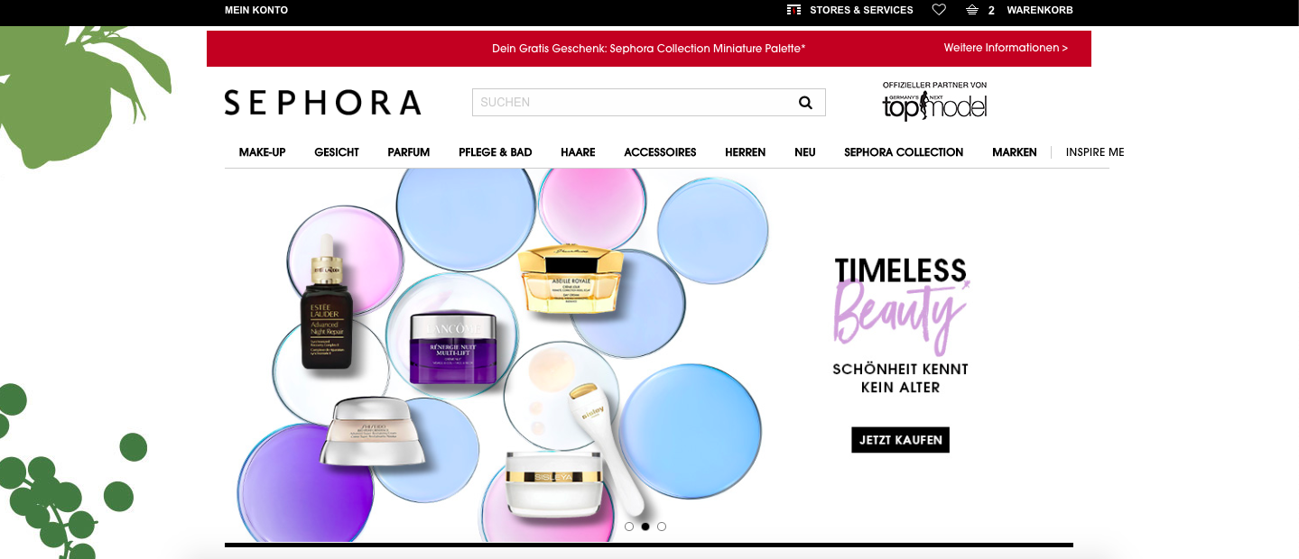Sephora Startseite Gutschein