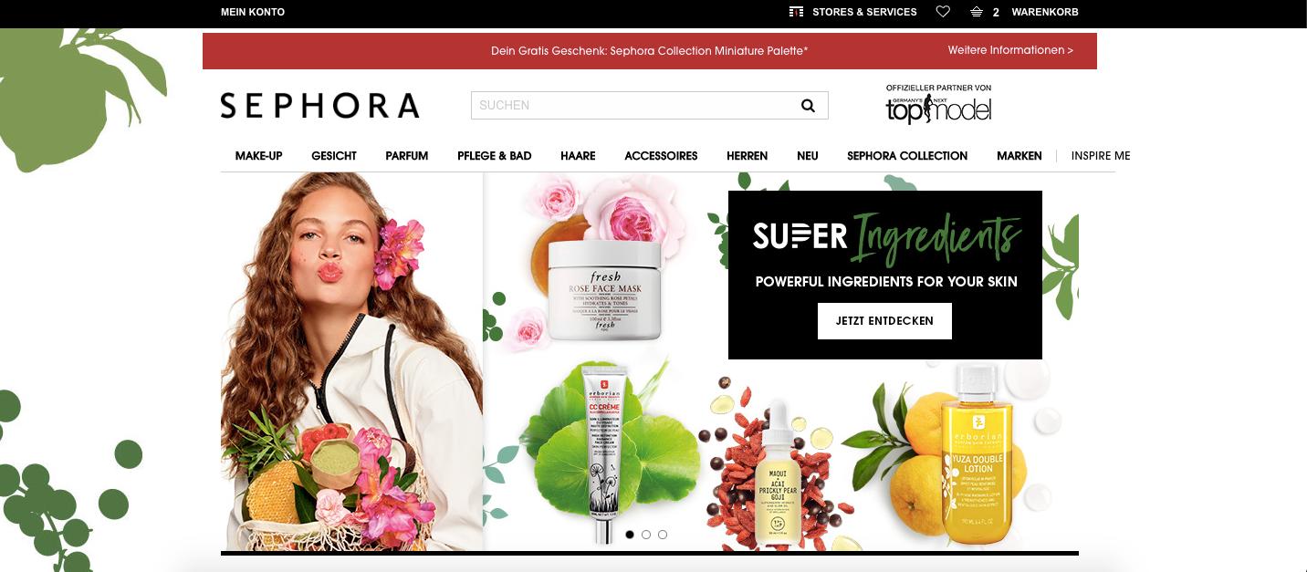 Startseite Sephora